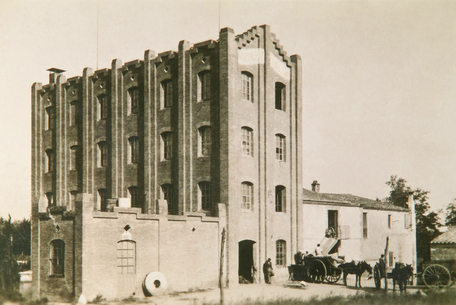 Exterior views of the old flour mill